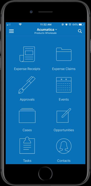 Acumatica Construction Mobile Screen
