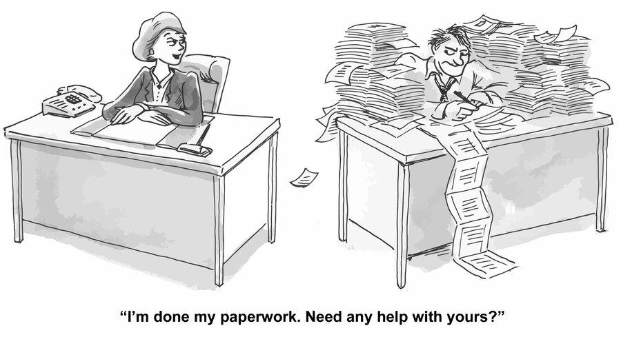 Acumatica Paperless AP Cartoon